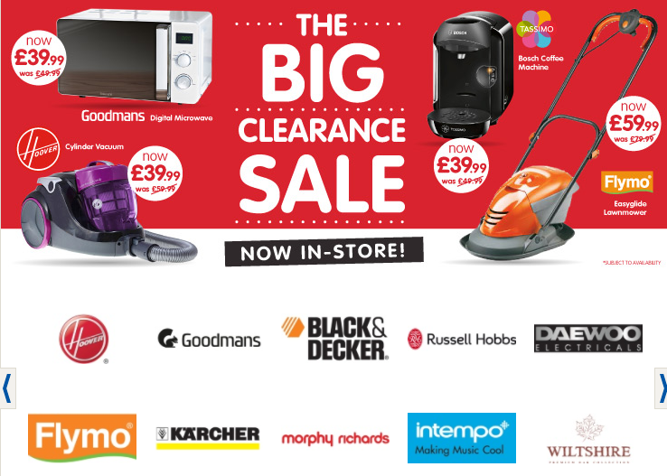 B&M Store clearance sale