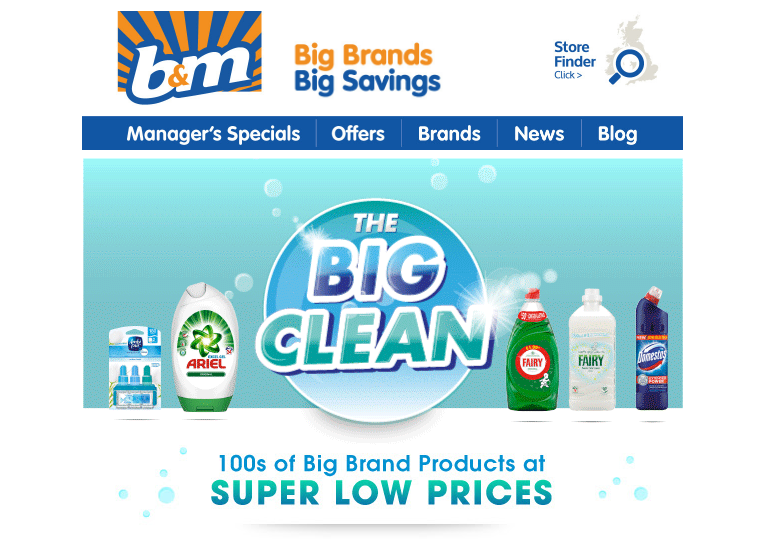 Big Cleaning Event at B&M