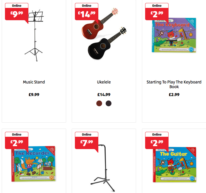 Musical Instruments at Aldi