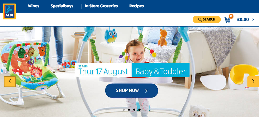 Baby Event on at Aldi