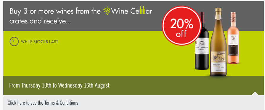Buy three or more wines and get 20% off at Lidl