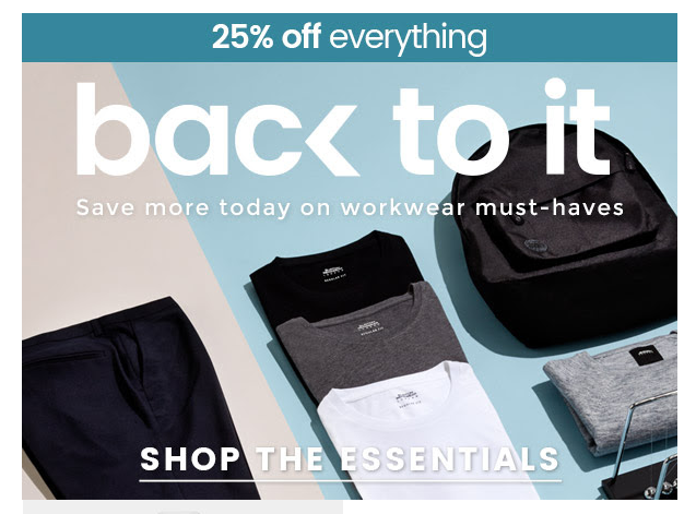 Save more today on workwear must-haves