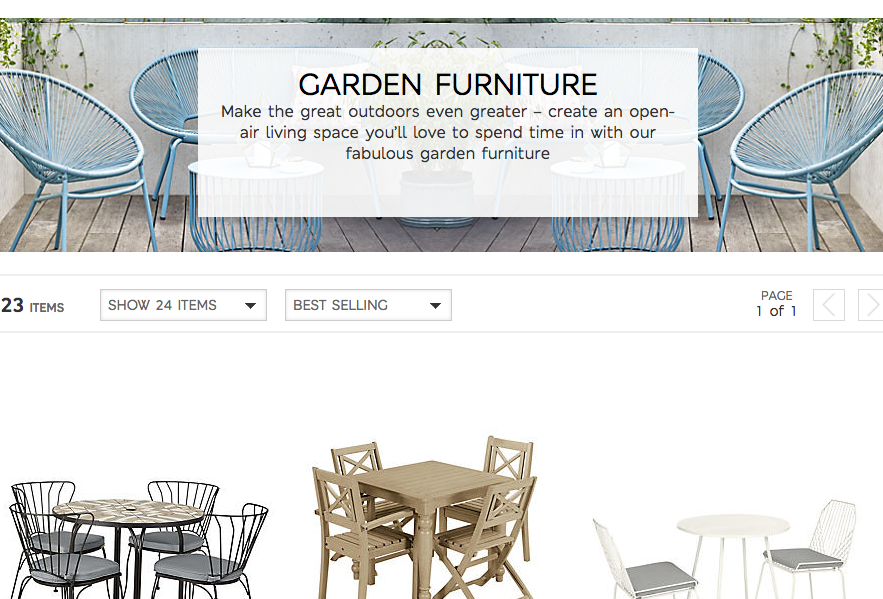Up to 50% off on outdoor furniture at Marks and Spencer